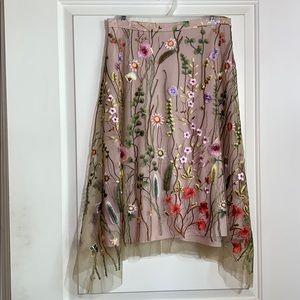 Eva Franco sz10 asymmetrical embroidered overlay